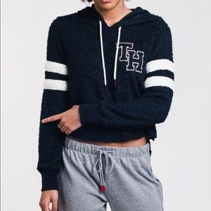 Tommy Hilfiger Fuzzy Cropped Hoodie